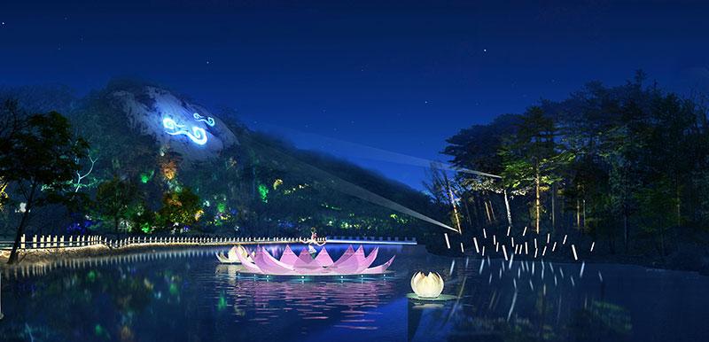 旅游景区特色夜景yabo亚博体育下载设计
